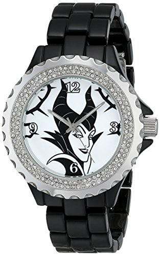 Disney Women's W001796 Maleficent Watch Analog Display, Analog Quartz, Black Watch]()