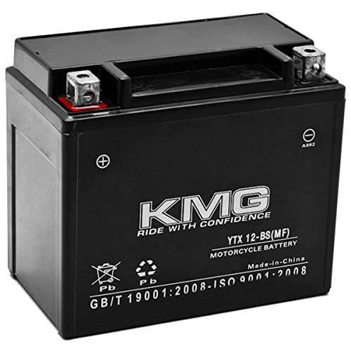 KMG Honda 250 TRX250 TE TM FourTrax Recon 1997-2012 YTX12-BS Sealed Maintenace Free Battery High Performance 12V SMF OEM Replacement Maintenance Free Powersport Motorcycle ATV Scooter Snowmobile KMG by KMG