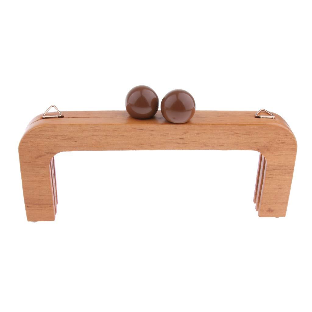 caff/è Baoblaze Telaio Chiusura Bacio Legno Stile Pallina Accessorio Borsa per Portafoglio 20 x 2 x 2.5cm
