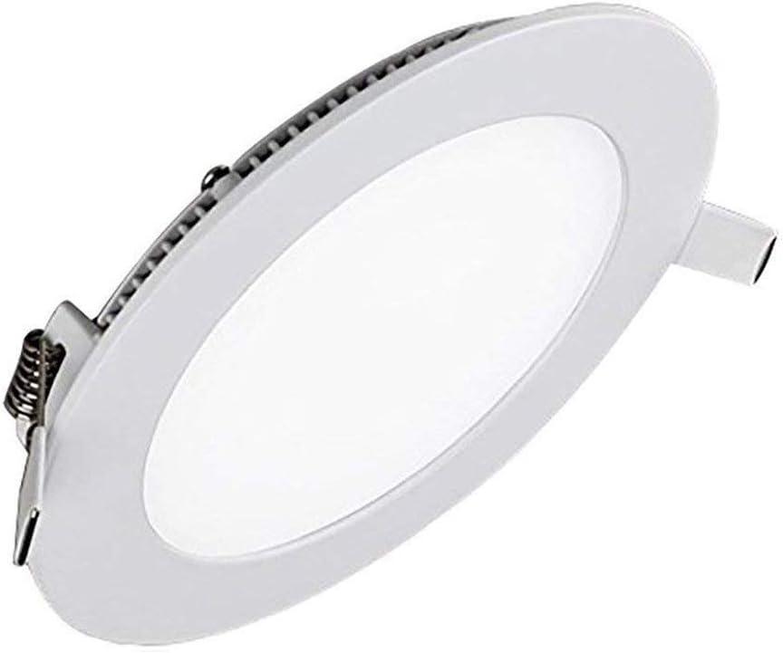 MIWOOHO LED Einbaustrahler Spots 10er Set 6W Kaltweiß 6000K LED Panel Rund Einbauleuchte Deckenstrahler Deckenleuchte Deckenlampe Einbau Lampe Spot 9w-kaltweiß