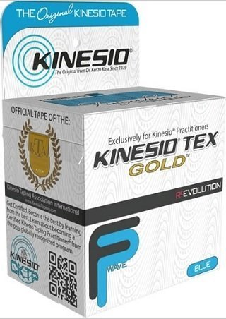 Kinesio Tex Gold Wave, Latex-Free, Water-Resistant - Blue - 6 PACK, 2'' X 16.4' #25024 by Kinesio by Kinesio