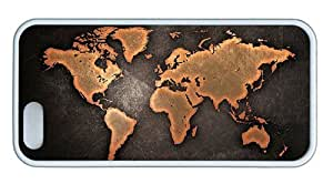 Hipster amazing iphone 5 covers grunge world map TPU White for Apple iPhone 5/5S