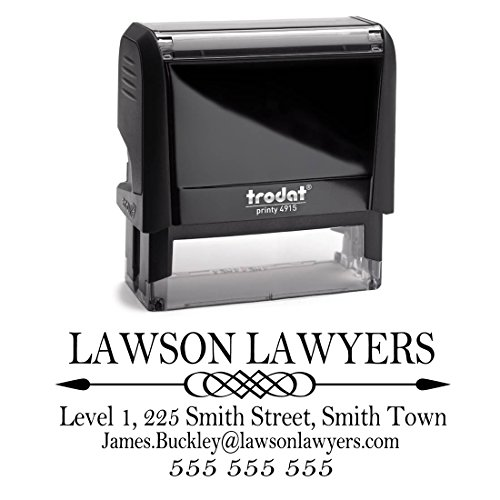 Business Self Inking Stamp Black