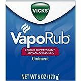 Vicks VapoRub Soothing Chest Rub Cough Suppressant, 6 Oz