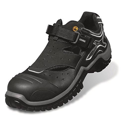 Uvex,–Zapatos de seguridad para hombre - negro/gris
