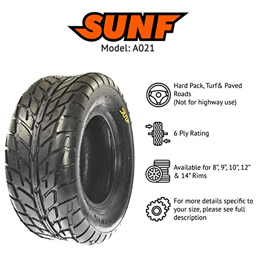 Pair of 2 SunF A021 TT Sport ATV UTV Dirt & Flat Track Tires 22x7-10, 6 PR, Tubeless by SunF (Image #2)