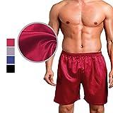Chris&Je Mens Short Undergarments Layers Satin Silk 29''-36''