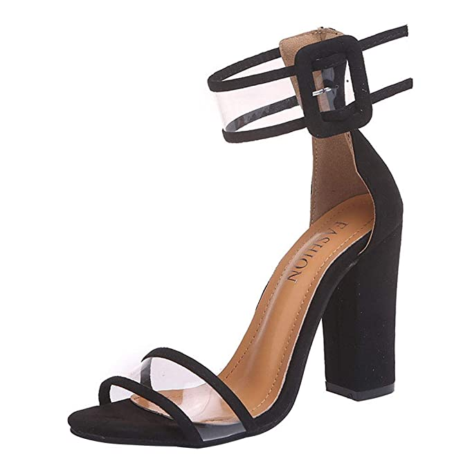 8301bb3b3f526 Amazon.com: FengGa Dress High Heels Shoes Women's Summer Buckle ...