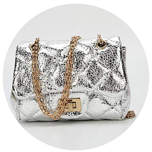 Bag Female Leopard Women Small Messenger Bag Ladies Pu Leather Shoulder Bags Female,Baolie Silver