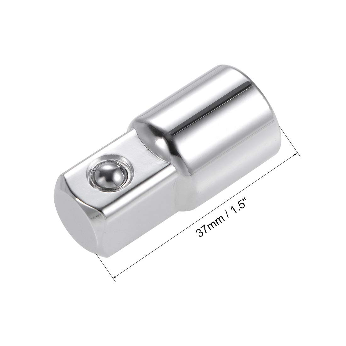 uxcell Ratchet Socket Adapter 3//8-Inch to 1//2-Inch Adaper 3//8-Inch Square Drive Cr-V Steel