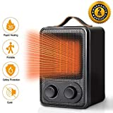 Portable Electric Heater 1500W Space Heater with Overheat&Tip-Over Protection,MroTech Ceramic Heater with Adjustable