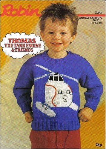Robin Childrens Thomas The Tank Engine Harold Motif Sweater