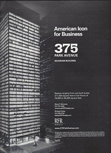 PRINT AD For 375 Park Avenue NY Seagram Building Promo