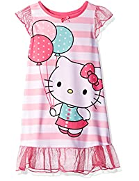 Hello Kitty Toddler Girls' Pink Striped Dorm Nightgown