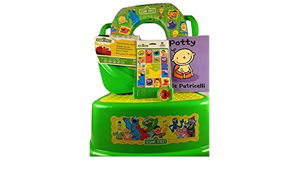 Amazon.com : Potty Training Set With Seats 7 Piece Bundle Sesame Street Characters : Baby