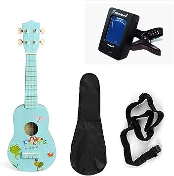 ADATEN Ukelele Guitarra Bajo Instrumentos Concierto Principiante ...