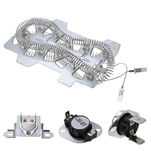(Dryer Heater Element (DC47-00019A)for Samsung, Thermal Fuse( DC96-00887A) and (DC47-00016A), Thermostat (DC47-00018A )Dryer Repair Kit Replacement)