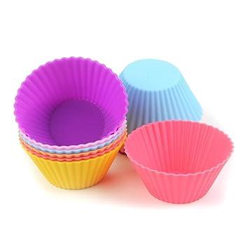 Moldes para muffins S7 SEVEN. 12unidades de silicona para cupcakes, moldes de