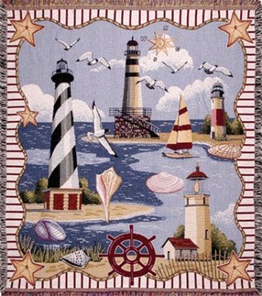 60 Tapestry Throw Blanket (Simply Home Coastal Memories Tapestry Throw Blanket 50x60)