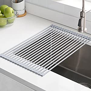 Kraus KRM-10 Multipurpose Over Sink Roll-Up Dish Drying Rack