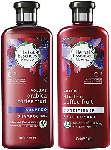 Herbal Essences Bio Renew Haircare - Volume - Arabica Coffee Fruit - Shampoo & Conditioner Set - Net Wt. 13.5 FL OZ (400 mL) Per Bottle - One Set