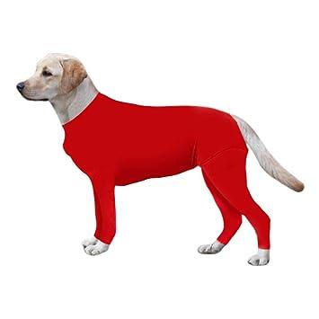 Amazon.com: ESHOO Mono de manga larga para perros, cuello en ...