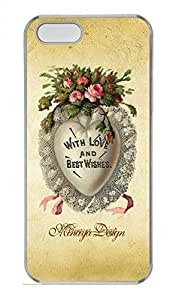 iPhone 5 5S Case United States Of Flower Funny Lovely Best Cool Customize iPhone 5S Cover Transparent
