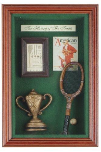 f Tennis Vertical Shadow Box, Brown/Green ()