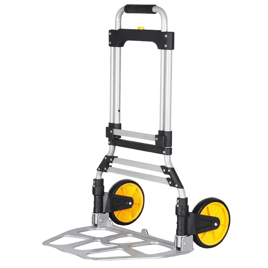 XIAOPING Folding Trolley, Trolley, Large Truck, Maximum Capacity 150KG Folding Portable Luggage Trolley by XIAOPING