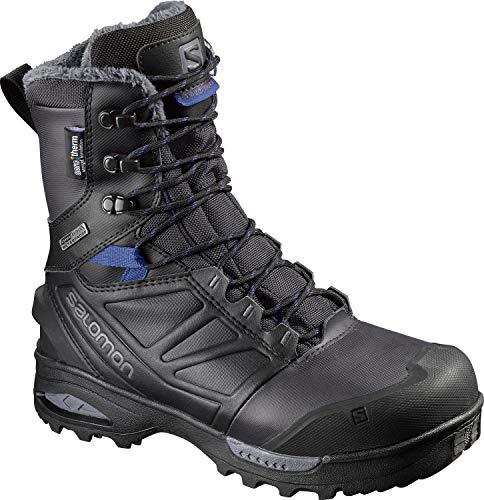 SALOMON Women's Toundra PRO CSWP W Snow Boot, Phantom/Black/Amparo Blue, 7.5 M US