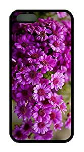 Beautiful Flower Theme Case for IPhone 5 5S Rubber Material Black