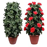 Enjoyer Blooming Rose Bush-Remote Control-30 Flowers-Magic Tricks Flower Appearing Stage Party Wedding Props Comedy
