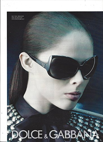 MAGAZINE AD For Dolce & Gabbana 2007 Black Sunglasses With Hillary - Hillary Sunglasses