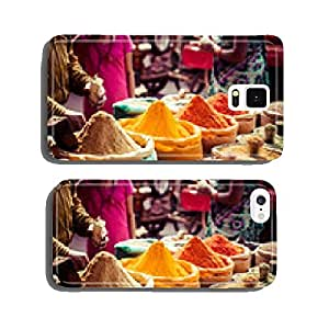 Traditional spices and dry fruits in local bazaar in India. cell phone cover case Samsung S6