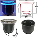 LED Cup Holder with Harness - Blue (Set of 5)
