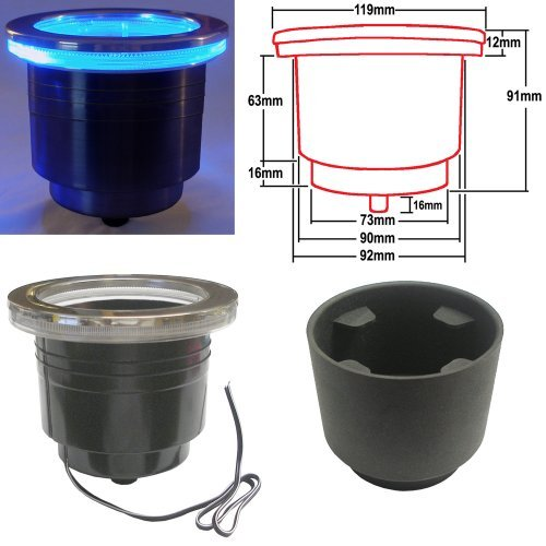 LED Cup Holder with Harness - Blue (Set of 5) by Prime Industries, Inc.