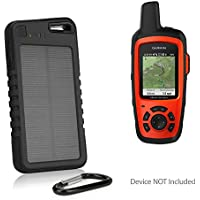 Garmin inReach Explorer+ Battery, BoxWave [Solar Rejuva PowerPack (5000mAh)] Solar Powered Backup Power Bank for Garmin inReach Explorer+ - Jet Black