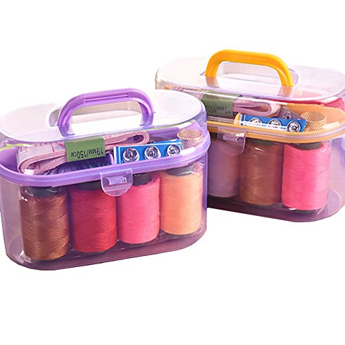 Costume Design Courses London - Xerhnan 2 Sewing Kit for Home, Travel & Emergencies - Filled with Quality Notions Scissor & Thread - Great Gift