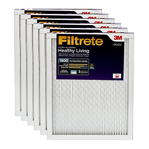 Filtrete 12x30x1, AC Furnace Air Filter, MPR 1500, Healthy Living Ultra Allergen, 6-Pack