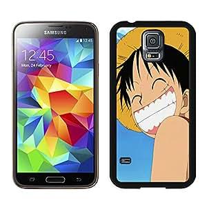 Fashion Custom Designed cute luffy one piece Samsung Galaxy S5 I9600 Black Phone Case CR-143