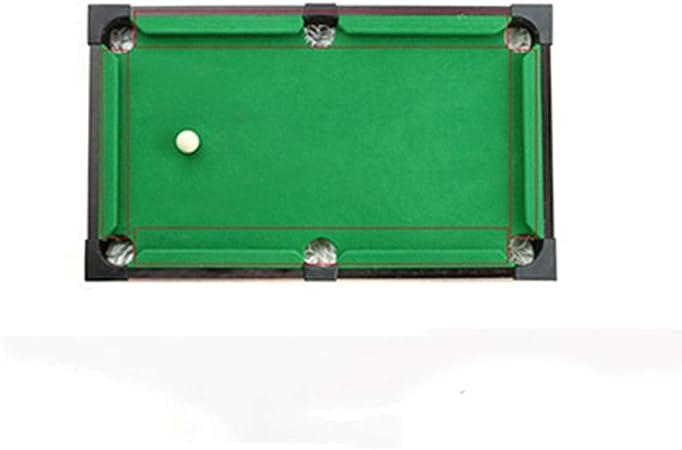 Traje de billar mesa de billar juguete infantil Mini billar cubierta Home Boy de escritorio pequeño billar Futbolín portátil y juguetes interactivos de bolas (Color: Verde, Tamaño: 43x81.5x17cm) Zixin: Amazon.es: Hogar