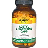 Country Life, Acetyl L-Carnitine Caps, 500 mg, 120 Veggie Caps - 3PC