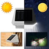 【Water Resistant】SolarEK 4 LED Solar Powered Motion Sensor Fence Light. Easy Installation/Durable. For Yard/Garden/Pathway/Patio/Deck/Garage/Outdoor/Roof/Stair/Porch Landscape Lighting Decoration