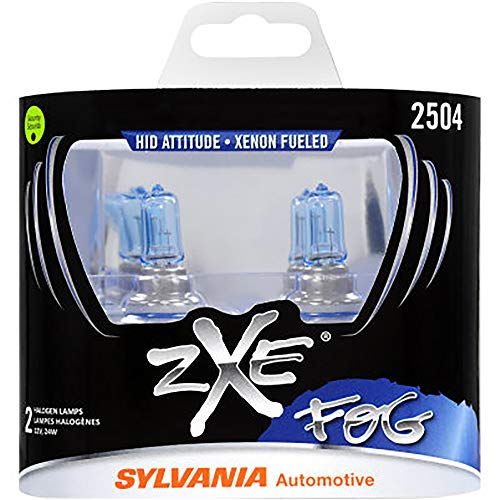SYLVANIA - 2504 (PSX24W) SilverStar zXe Fog High Performance Halogen Fog Light Bulb - Bright White Light Output, HID Attitude, Xenon Fueled Technology (Contains 2 Bulbs)