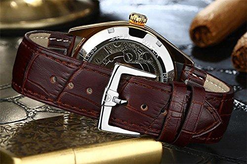 ZWF® Mode märke AILANG Tourbillon män klocka diamant automatisk mekanisk äkta läderrem klockor relogio masculino, 8
