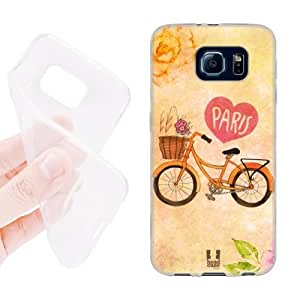 Head Case Designs Bicycle I Dream of Paris Soft Gel Back Case Cover for Samsung Galaxy S6 G920, Galaxy S6 Duos