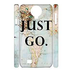 3D Kweet Just go to Travel Samsung Galaxy S4 Case, {White}