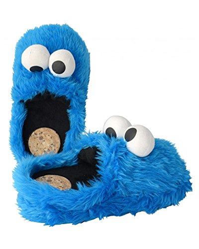 Sesamstrasse Hausschuhe Größe L 41-43 Krümelmonster 3D Slipper Cookie Monster Schuhe Shoes