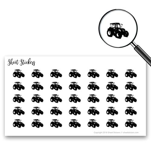 Tractor, Sticker Sheet 88 Bullet Stickers for Journal Planner Scrapbooks Bujo and Crafts, Item 1386547