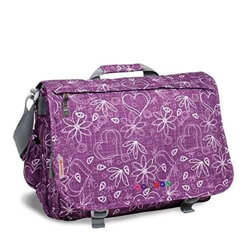 New York Slim Briefcase - J World New York Luggage Thomas, Love Purple
